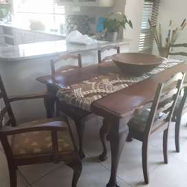 6 seater antique dining room set