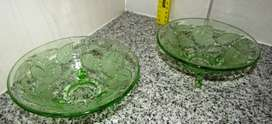 Decorative Glass Bowls x 2