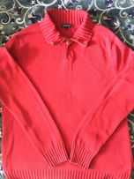 Продам красного цвета реглан L, мужской (свитер,джемпер)