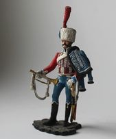 Фигурка наполеоновского гусара. Олово 1:32 масштаб. Подарок мужчине