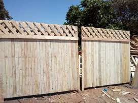 Daimond fence and picket fence
