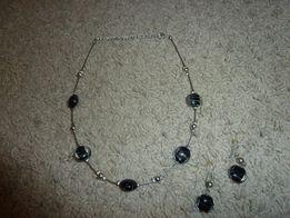 Zestaw biżuterii w kolorze czarnym