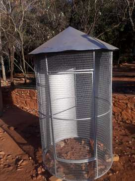 Outside Bird cage