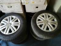 Image of Polo rims and tyres with wheel caps