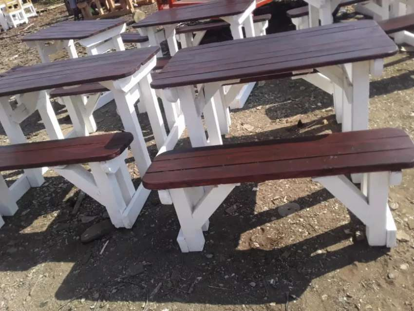 Wooden benches 0