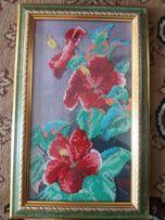 Картина из чешского бисера, в рамке со стеклом