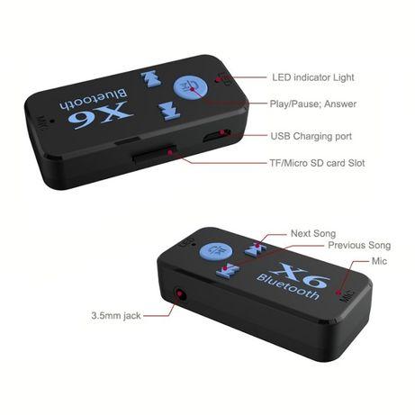 Bluetooth AUX приемник+MP3 ПЛЕЕР SD, гарнитура, беспроводные наушники Кривой Рог - изображение 6