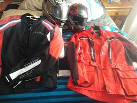 JACKETS AND HELMETS