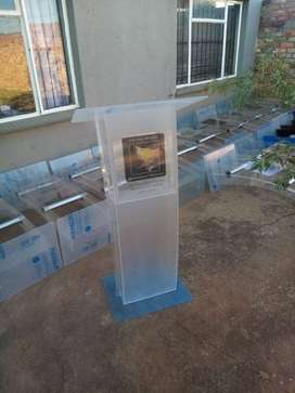 Clear C-Shape Full Frosted Front Pulpit Specials Now On
