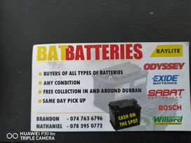 Buyers of old and second hand batteries