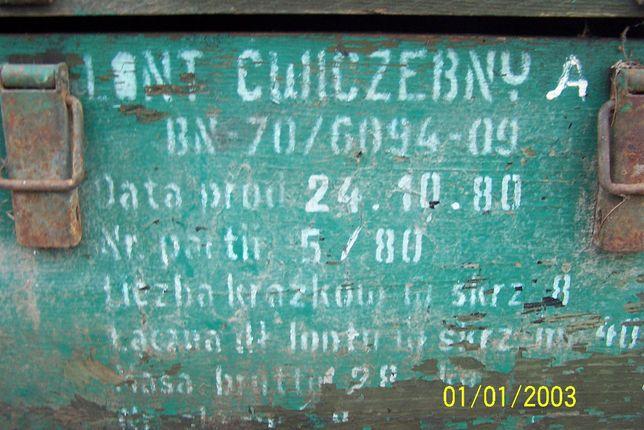 prl ,skrzynia wojskowa ,amunicyjna,vintage Kamień Pomorski - image 2