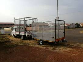 Car with trailer for hire with driver only R6 per km