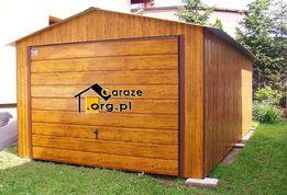 Garaże blaszane drewnopodobne 4x5 Garaż blaszany Premium z efektem 3D