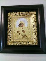 Икона Пресвятая Богородица золочение 34х37см