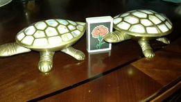 Черепахи. Латунь + натур. перламутр.