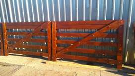 Equine post and rail fencing and gates