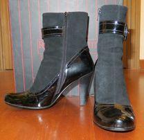 Жіночі шкіряні черевики женские кожаные ботинки полусапожки 38 Італія