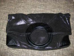 Клатч-сумка из натуральной замши