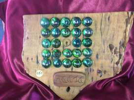 Game - Wooden  Base & Marbles