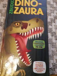 Dinozaur 3D książaka + szkielet dinozaura do złożenia