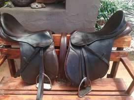 2 saddles. Bates 18inch. Thoroughbred 17 inch. R4500 for both.