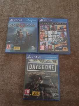 3 unopened ps4 games