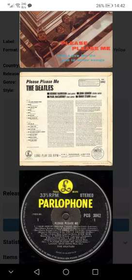 The beatles vintage vynal record