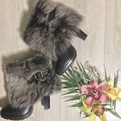 Сапоги Zara с мехом наружу Измаил - изображение 1