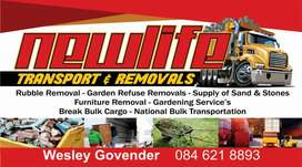 Rubble removal and transportation services
