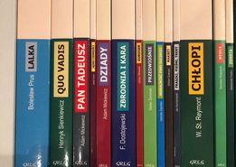 Książki, lektury szkolne Lalka, Quo Vadis, Pan Tadeusz, Dziady