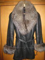 Продам кожаную куртку с чернобуркой