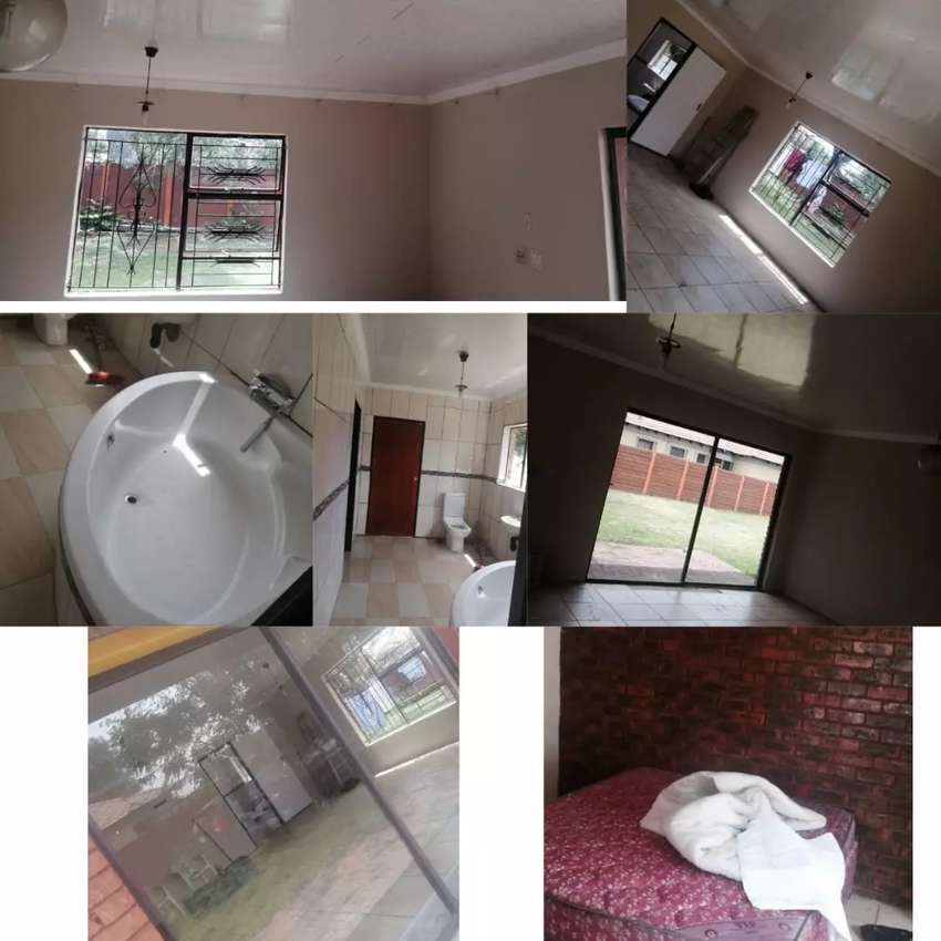 A two spacious bedroom flat with bathroom and a toilet