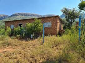 Upcoming Auction:6.6 ha Stand with incomplete 2 bed house on auction