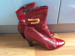 Красивые красные полуботинки ботинки кожа р.38 состояние новых