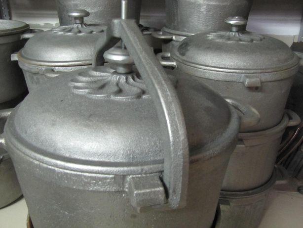 Kociołek żeliwny 10 litrowy Duży Garnek na stojaku zakręcany Rybnik - image 3