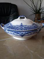 Stara kobaltowa waza - wzór królewski Anglia