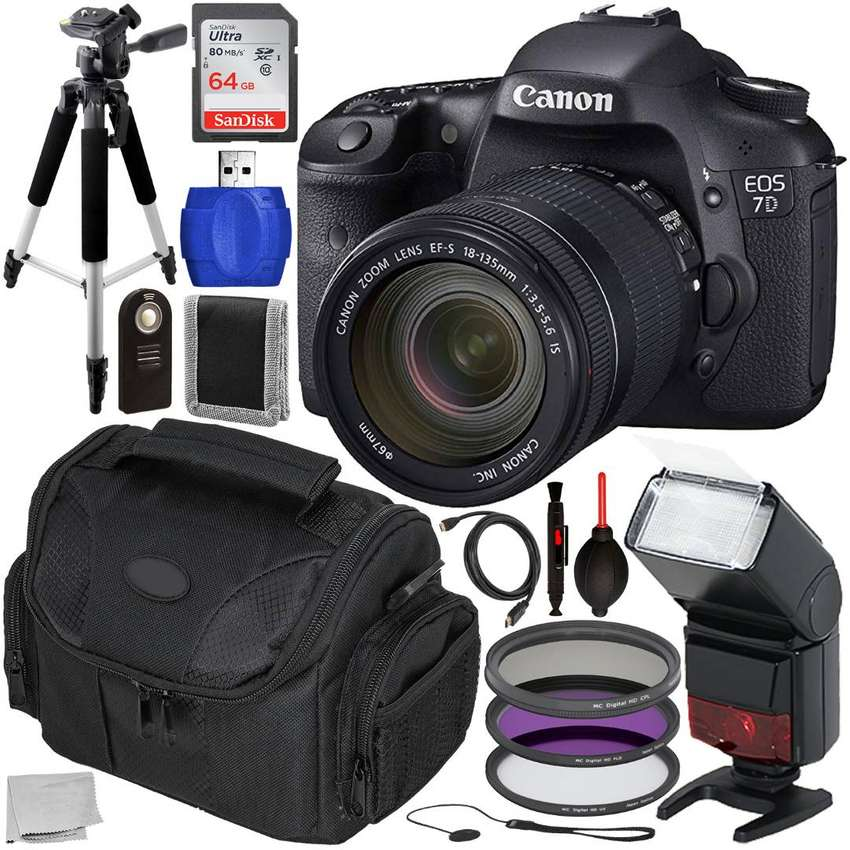 Canon EOS 7D DSLR Camera with 18-135mm Lens & Accessory 0