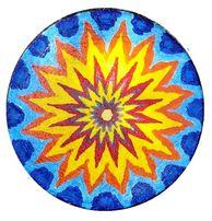 Тарелка настенная 30 см декоративная керамика ручная винтажная роспись