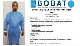 Disposable Gowns with cuff