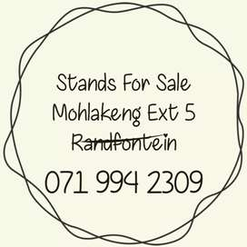 Opportunity to build your dream home in Mohlakeng!
