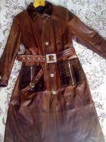 Продам натуральное кожаное пальто. 52-54 р.