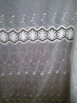 Firana woal ecru haft+gipiura wys.280 lub tkanina ,zasłona