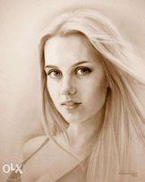 Нарисую портрет на заказ. Сепия, уголь, карандаш