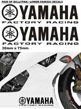 Yamaha Factory Racing lower fairing decals graphics vinyl cut stickers