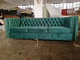 3 seater deep buttoned