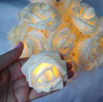 Розы на батарейках гирлянда цветы свадебная