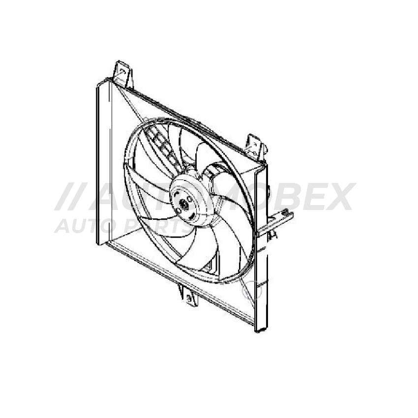 Renault Kwid Radiator Fan Assembly  - New and Original 0