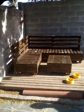 l shape couches picnic benches and tebles and chairs