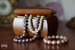 Szkatułka na biżuterię (drewno naturalne)