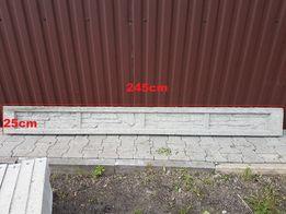 Podmurówka 245cm x 25cm x 6cm z elementem łączącym zbrojona